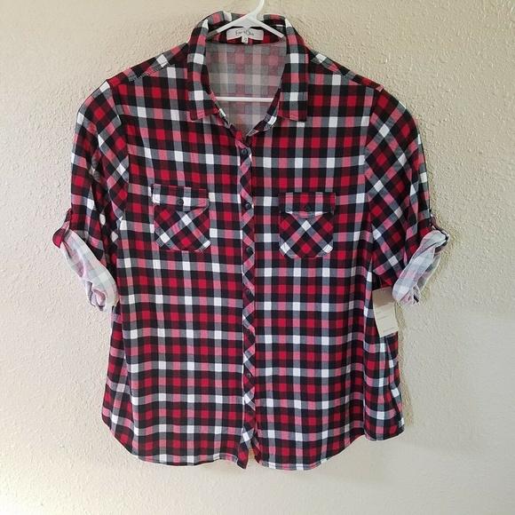 540d9f08a90fc Eden Olivia Anthropologie Shirt 3X Gingham Button